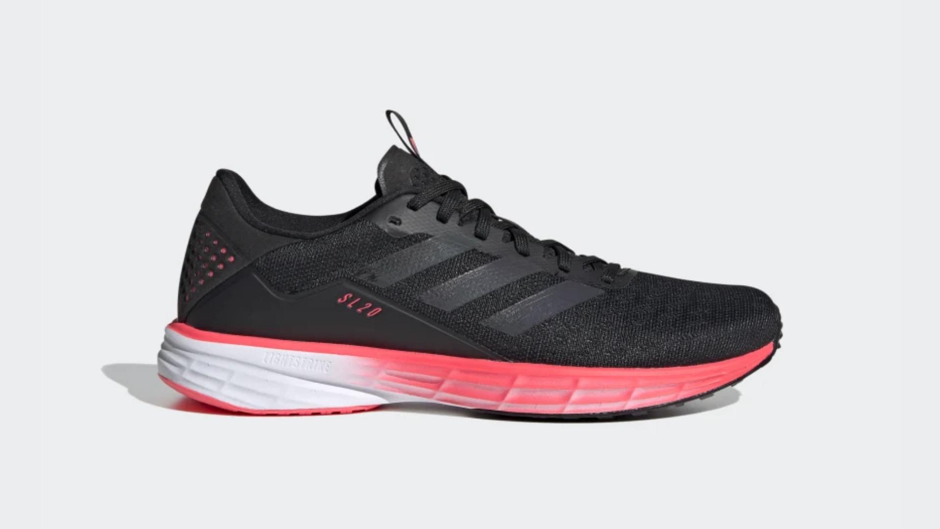 O Adidas SL20 é um tênis de corrida de drop alto (Imagem: Divulgação/Adidas)