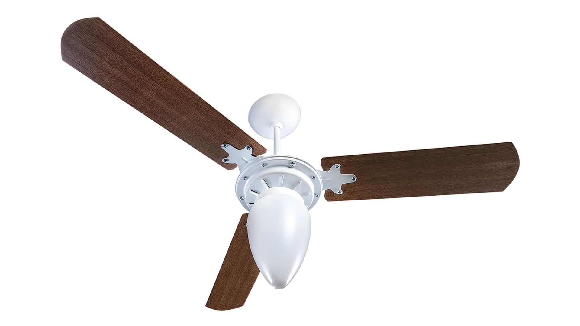 O ventilador de teto Ventisol Wind 3 é um dos modelos econômicos da nossa lista. Confira abaixo! (Imagem: Divulgação/Ventisol)