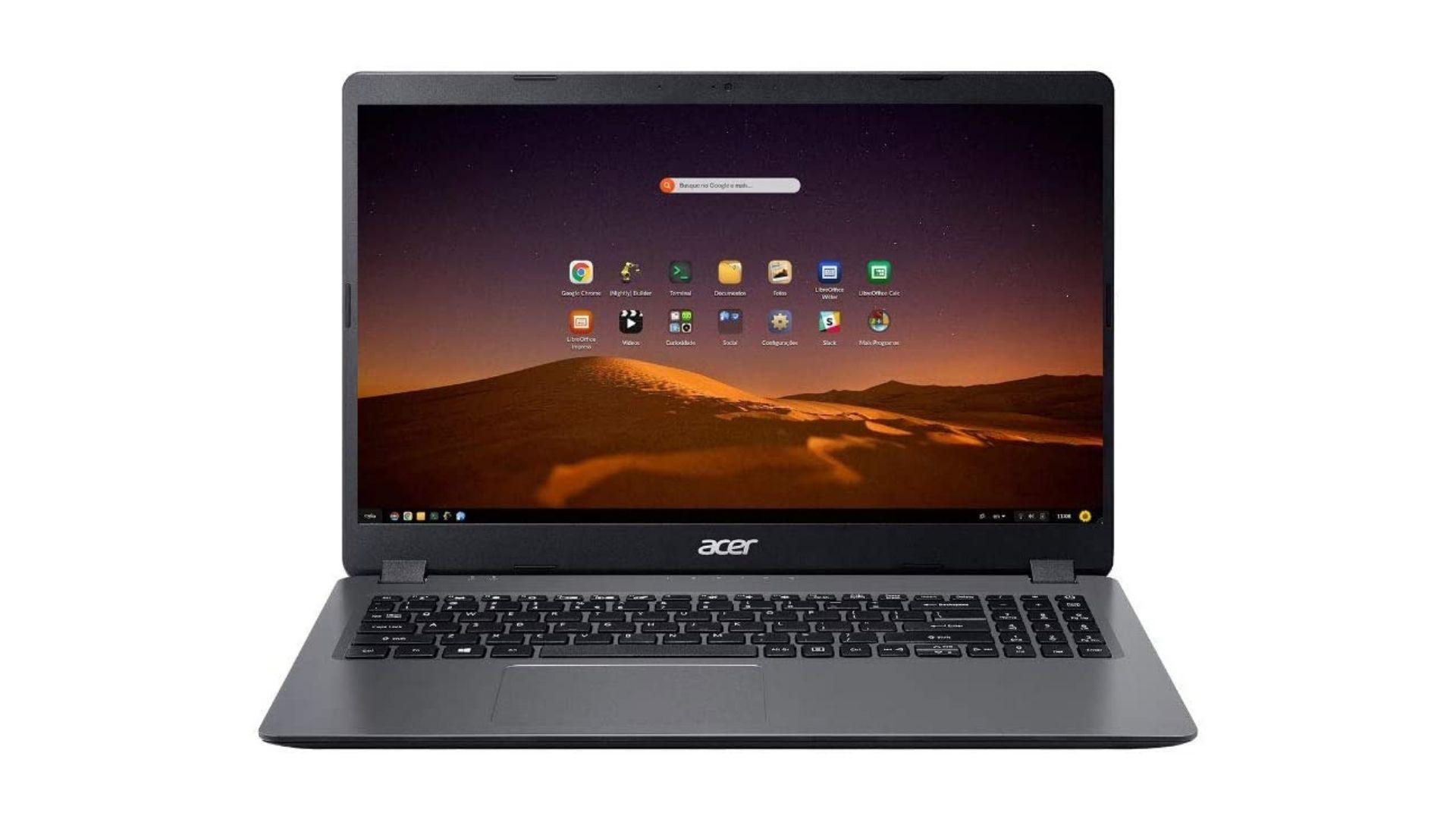 O Acer Aspire 3 A315-56-569F é uma boa opção de notebook com Endless OS (Foto: Divulgação/Acer)