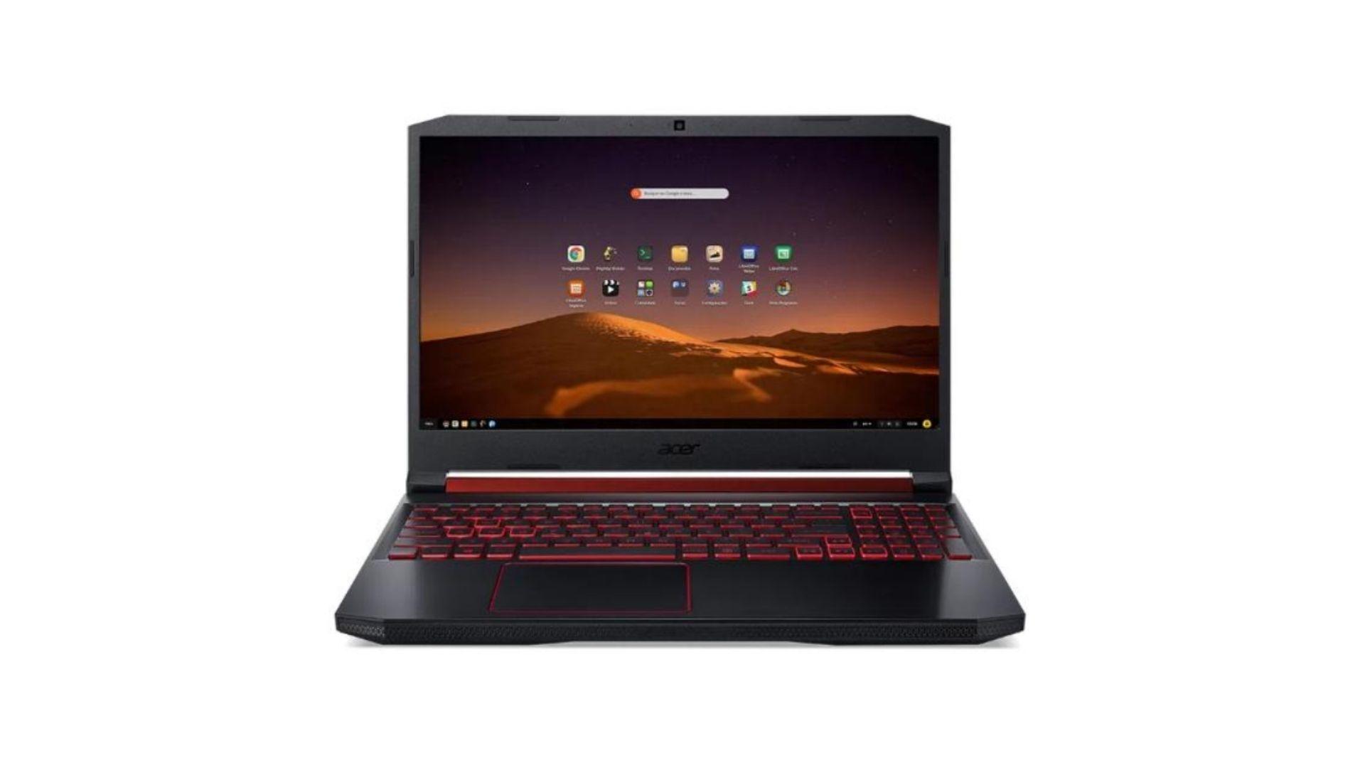 O Acer Aspire Nitro 5 é uma opção de notebook gamer com Linux (Foto: Divulgação/Acer)
