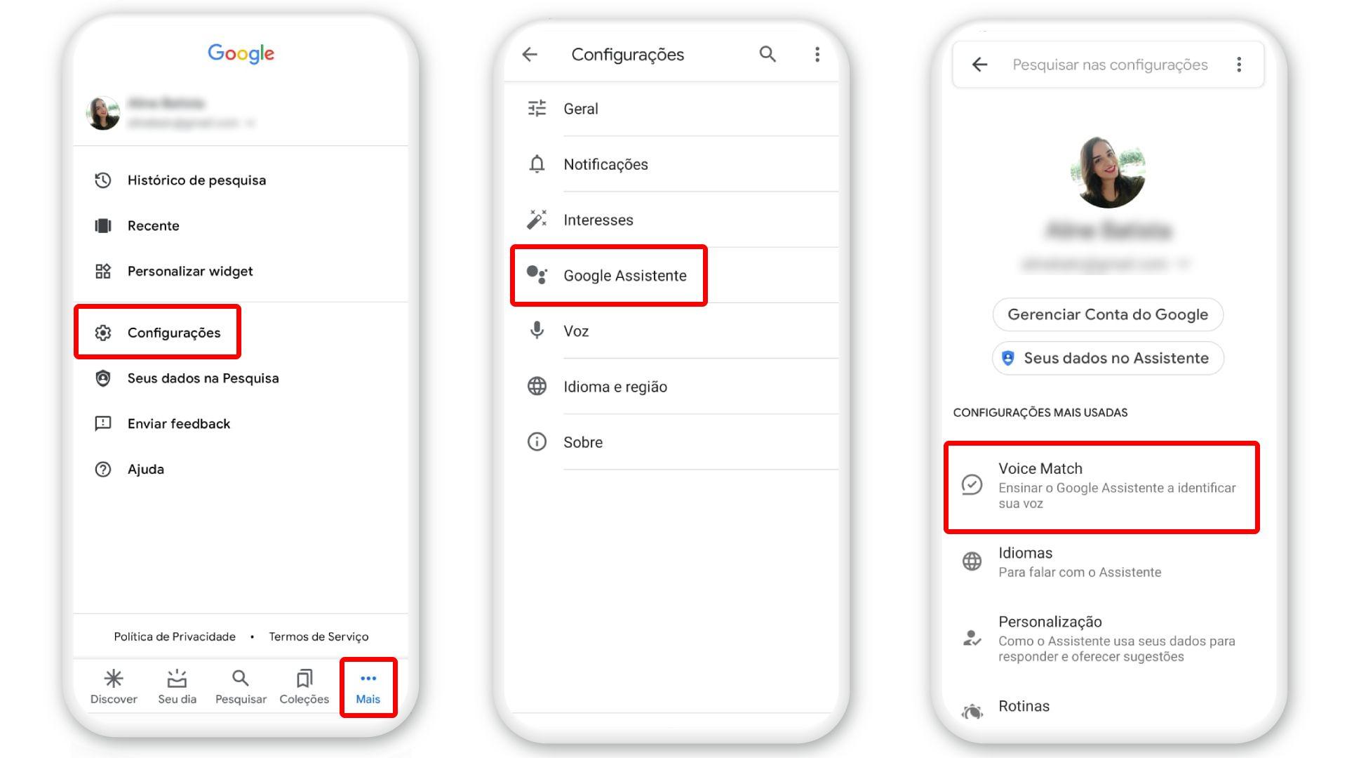 """Para ativar """"Ok Google"""", vá em """"Configurações"""" e, depois, em Google Assistente (Foto: Arte/Zoom)"""