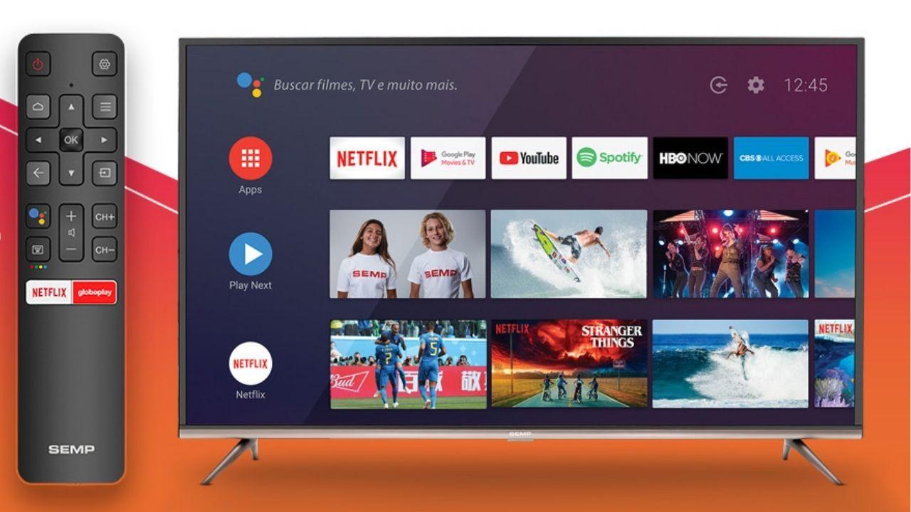 Conectando sua TV à internet, você pode assistir filmes e séries direto na TV (Imagem: Divulgação/SEMP TCL)