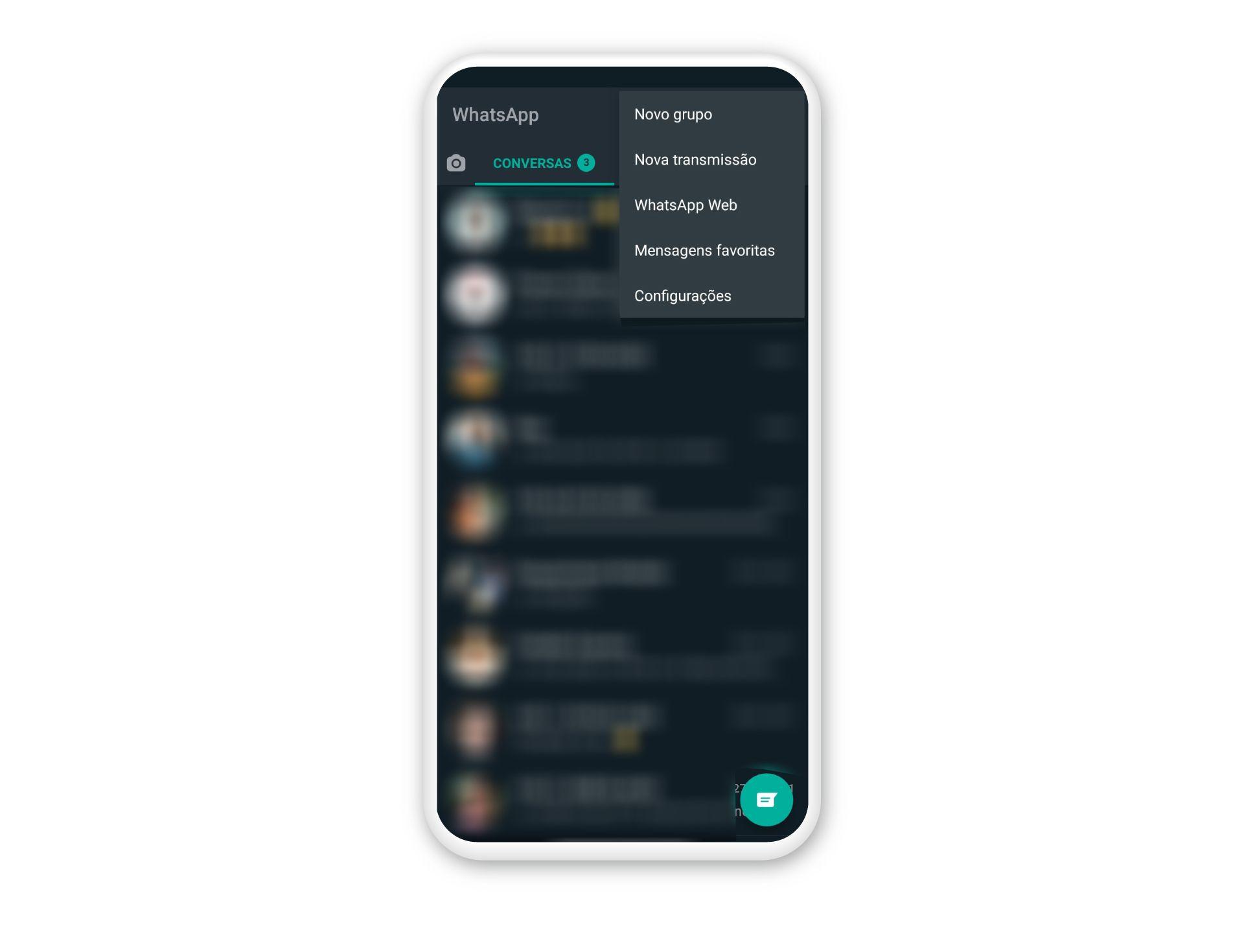 O WhatsApp possui uma opção para acessar a versão web (Fonte: Reprodução/Zoom)