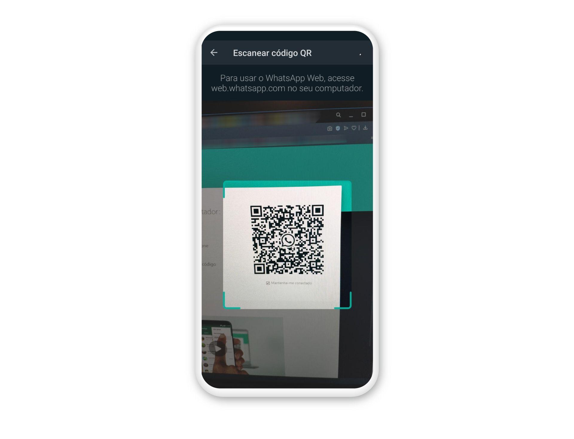 Escaneie o QR Code para ter como usar o WhatsApp no PC (Fonte: Reprodução/Zoom)