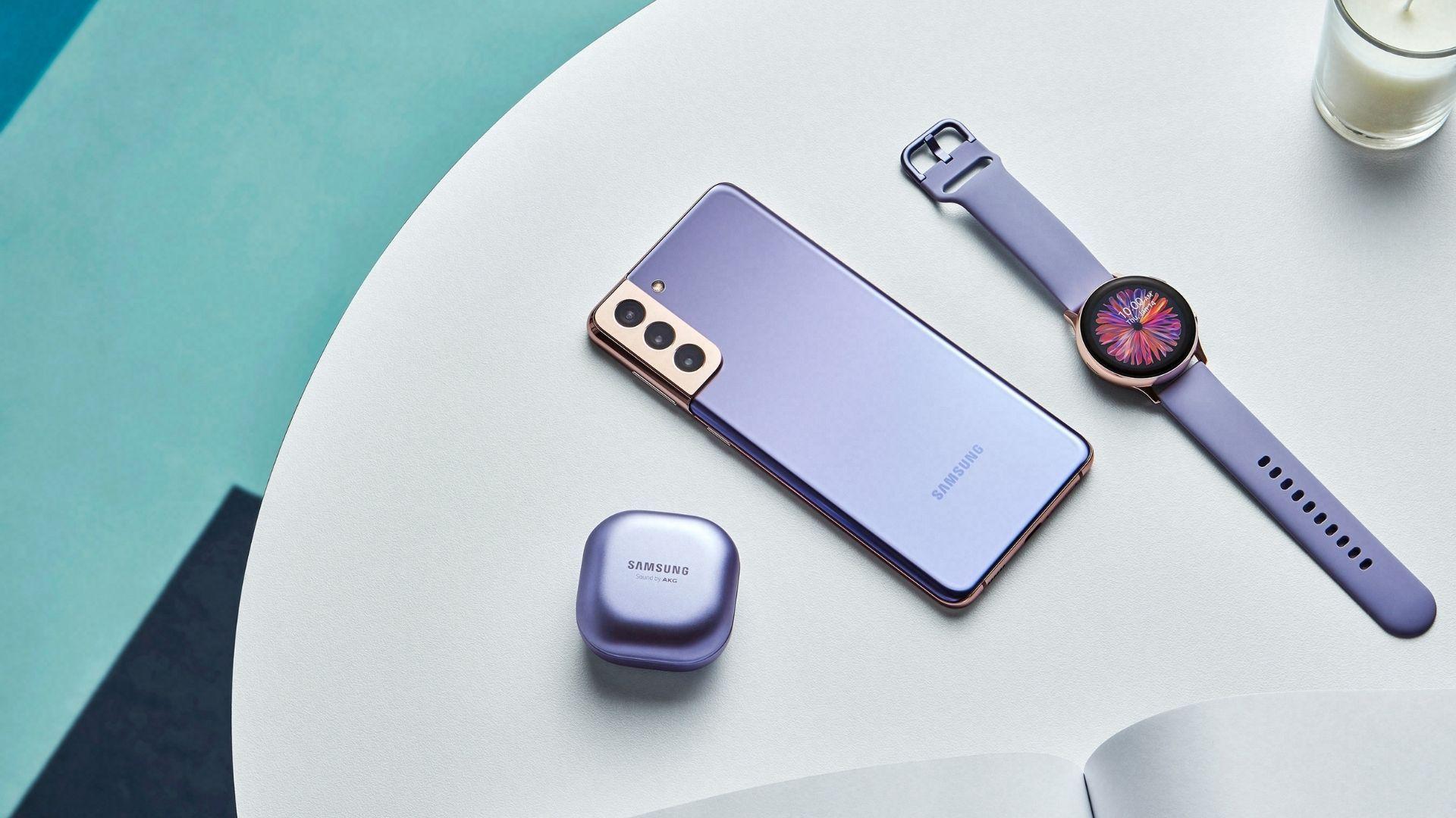 Galaxy S21 tem várias opções de cores (Foto: Divulgação/Samsung)