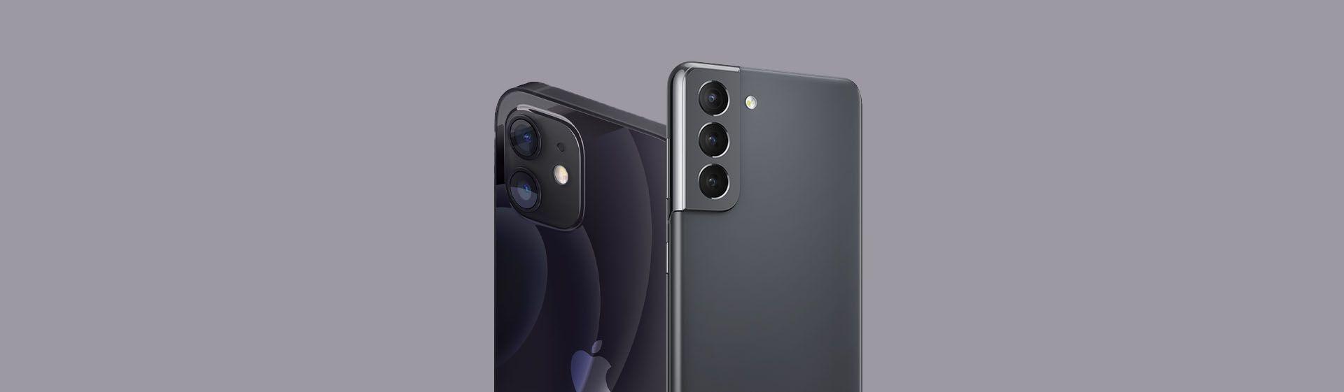 iPhone 12 vs Galaxy S21: comparamos os celulares da Samsung e da Apple