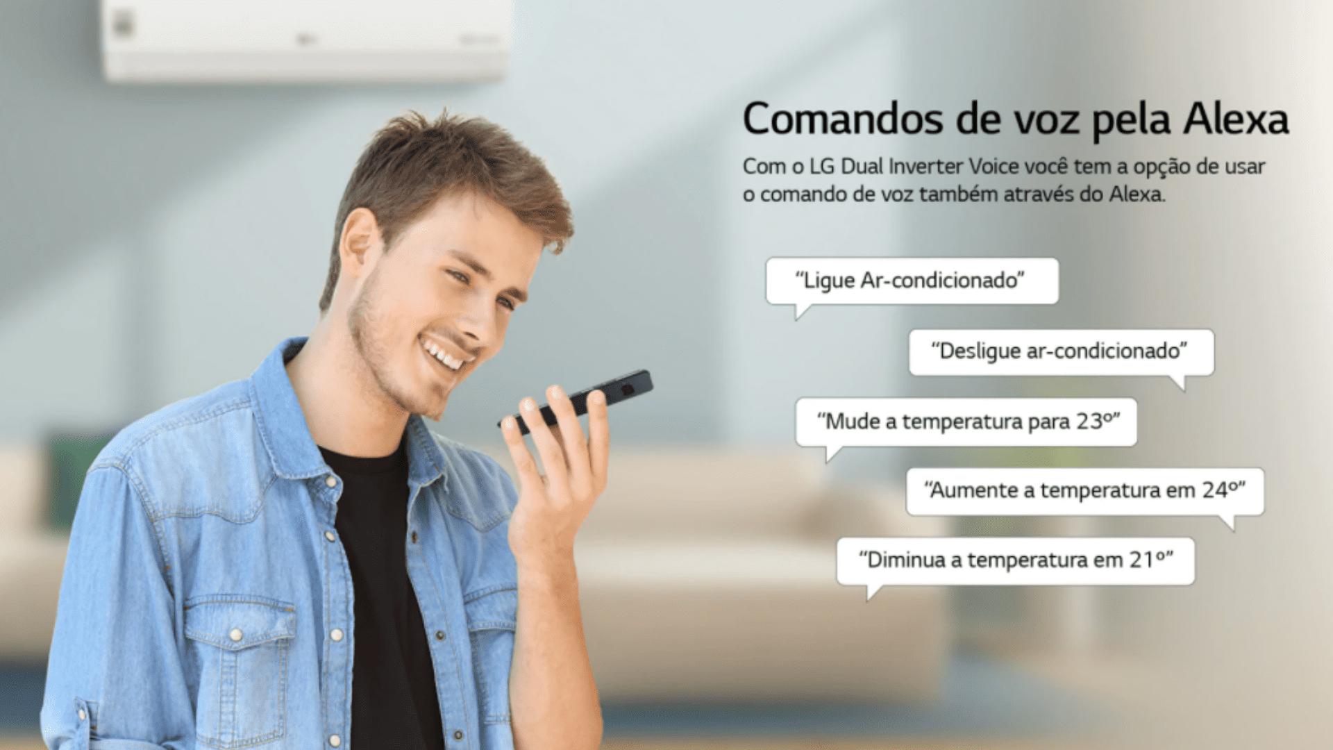 A linha LG Dual Inverter Voice responde a comandos de voz (Foto: Divulgação/LG)
