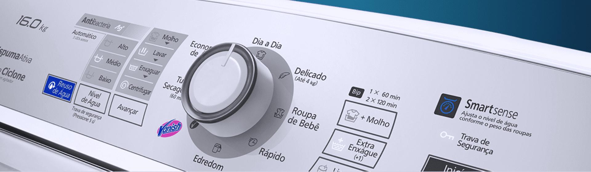 Máquina de lavar Panasonic 16kg NA-F160B6W é boa? Veja a análise de ficha técnica da lavadora