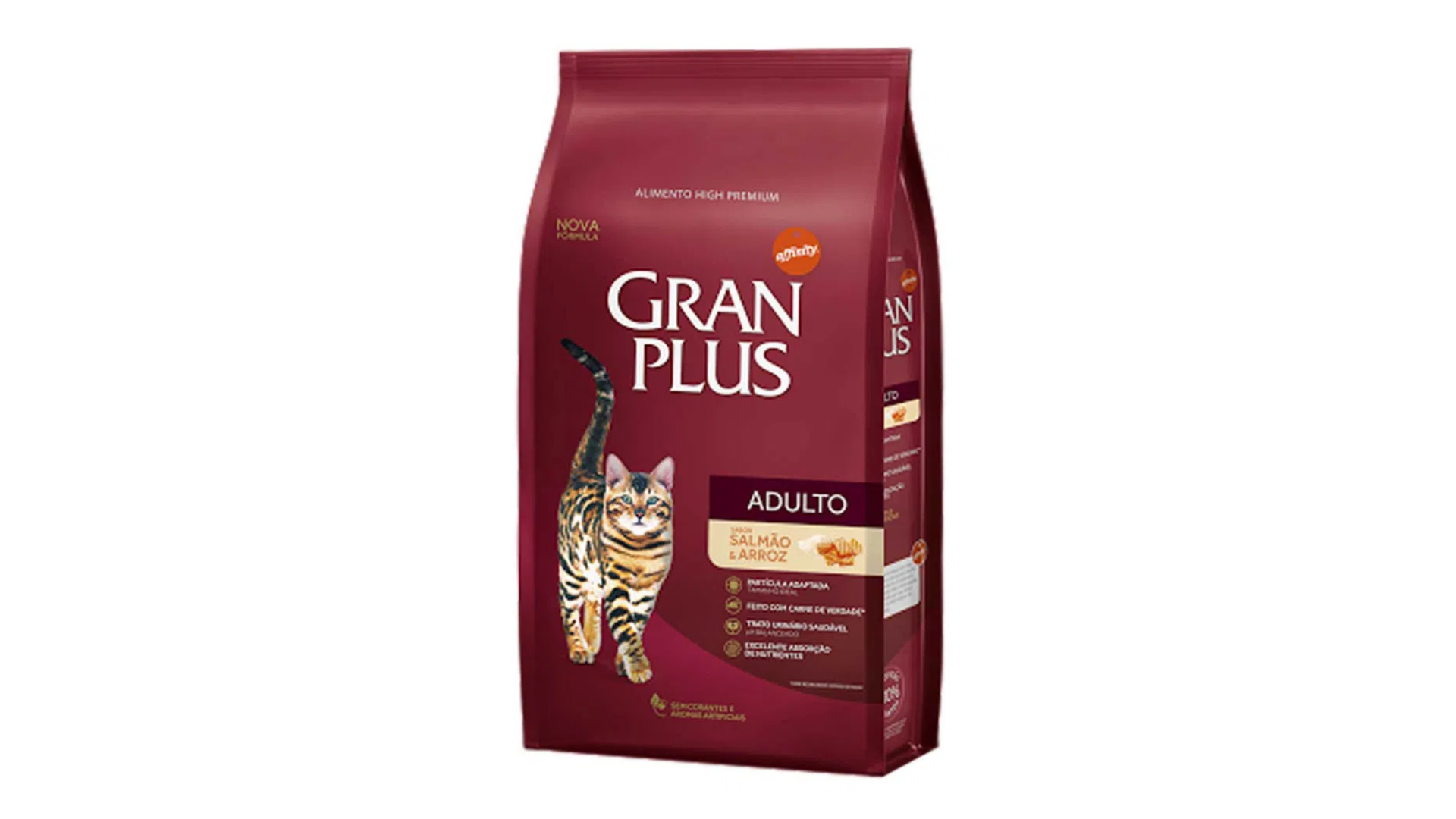 A ração GranPlus Adultos é do tipo Premium (Divulgação/GranPlus)