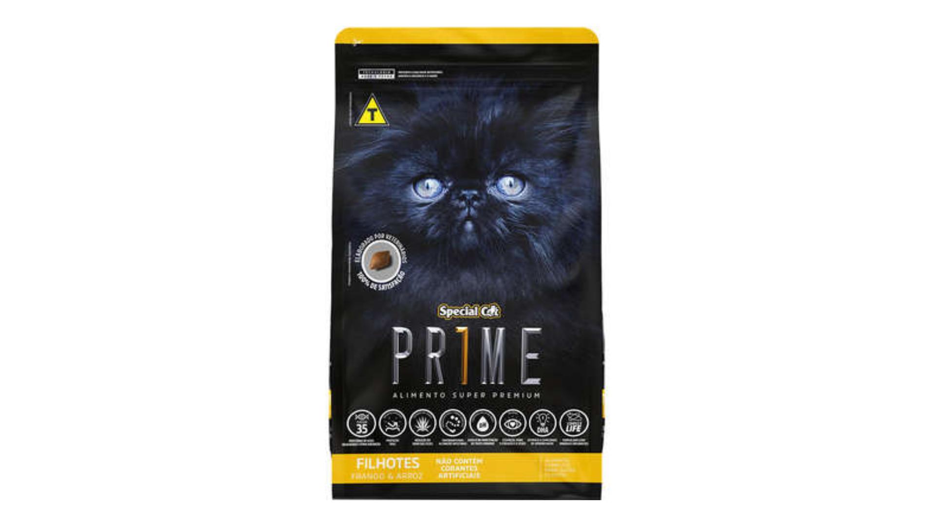 A ração Special Cat Prime Filhotes é do tipo Super Premium (Divulgação/SpecialCat)