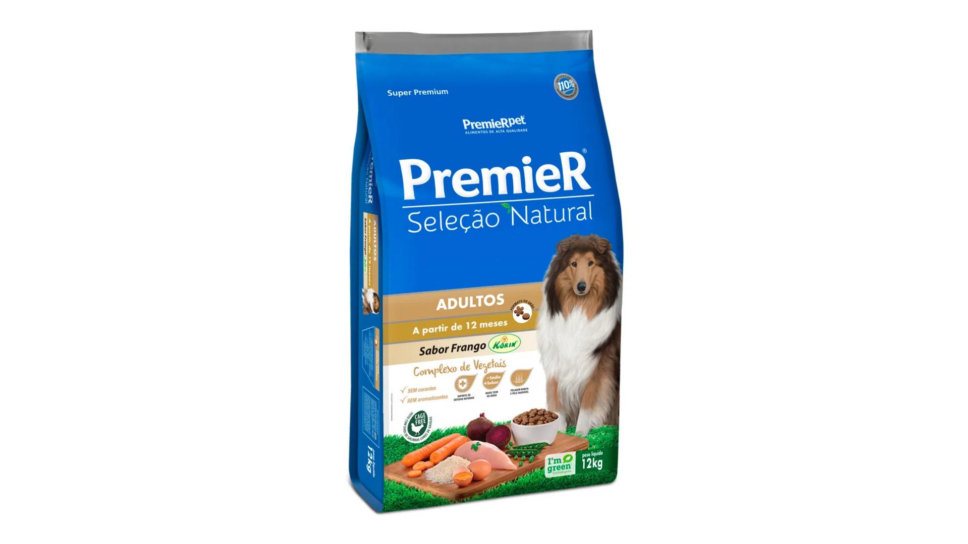 A ração PremieR Pet Seleção Natural é do tipo Super Premium (Divulgação/PremieR Pet)