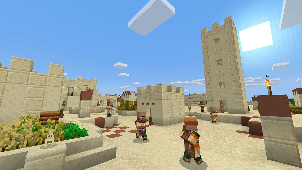 Para jogar com a família, Minecraft é uma ótima opção, com multiplayer local e online crossplay (Reprodução: PlayStation)