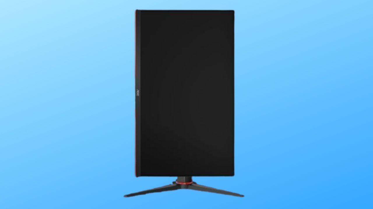 Monitor AOC HERO 24G2 tem rotação que deixa a tela na vertical (Foto: Divulgação/AOC)
