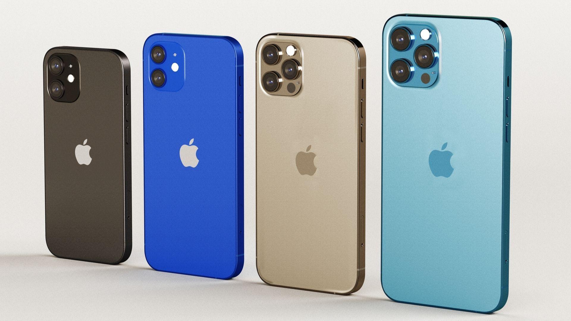 Todos os iPhones 12 lançados pela Apple. | Foto: Shutterstock