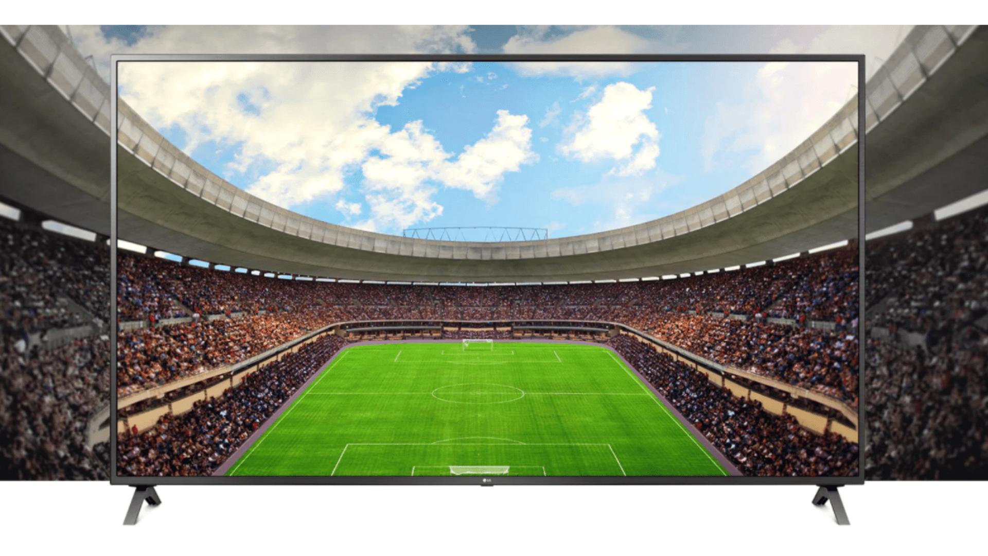 As TVs 4K são perfeitas para reprodução de jogos de futebol. (Imagem: Divulgação/LG)