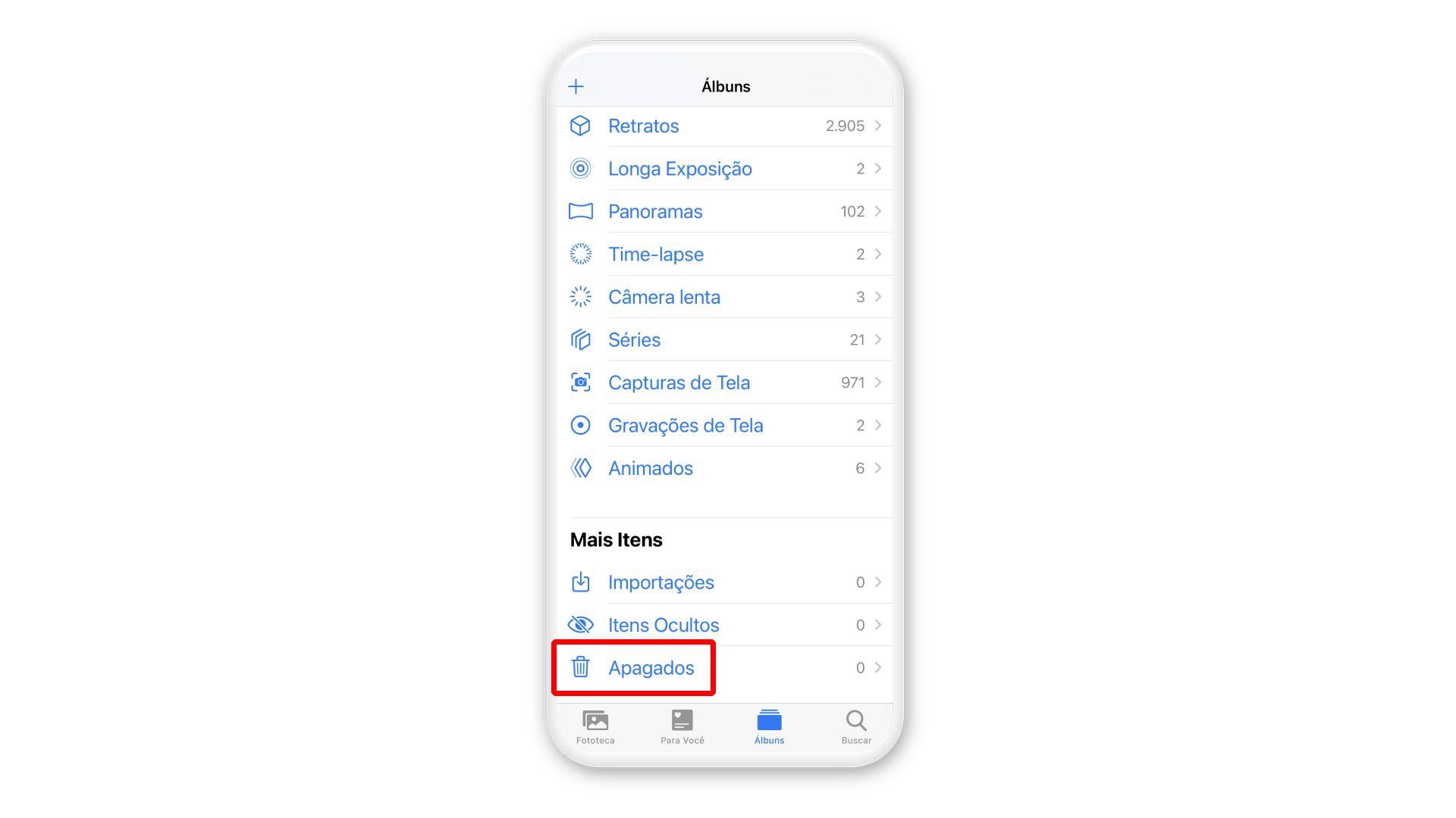 Como recuperar fotos apagadas? Galeria do iPhone tem pasta com itens deletados (Foto: Arte/Zoom)