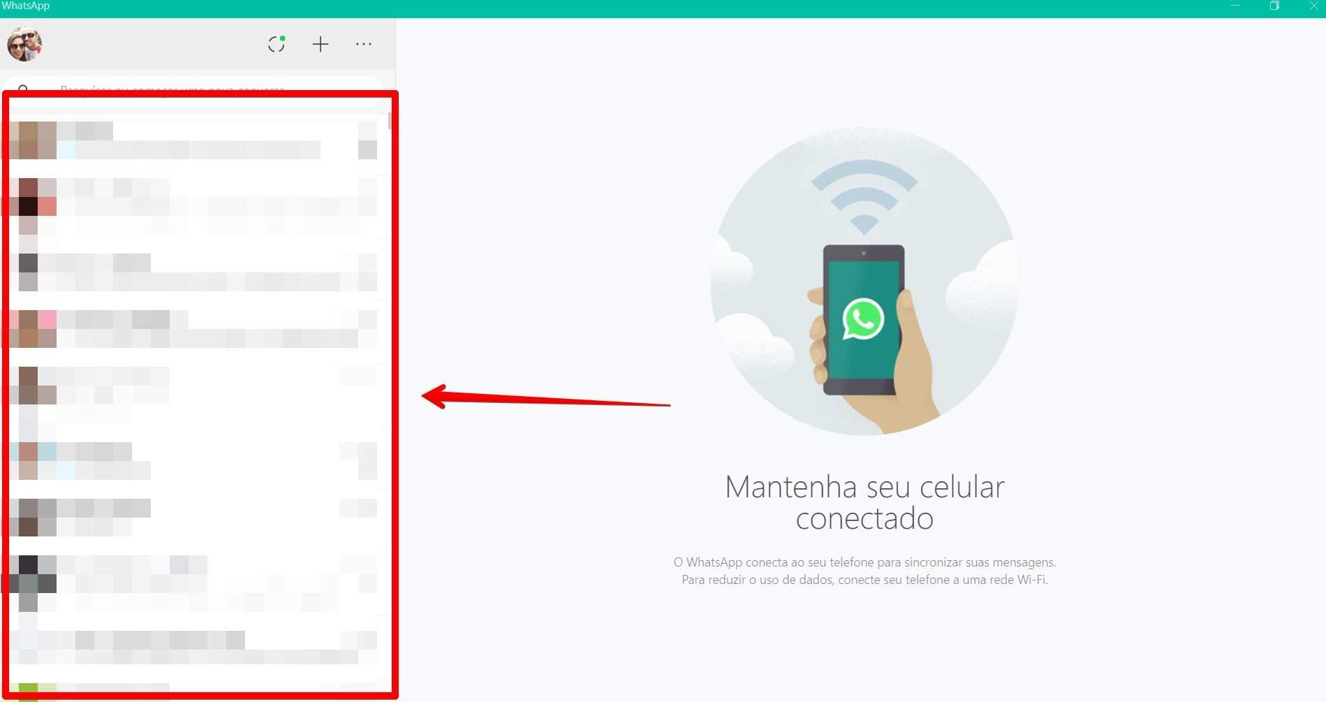 Acesse qualquer conversa do WhatsApp no PC (Fonte: Reprodução/Filipe Salles)