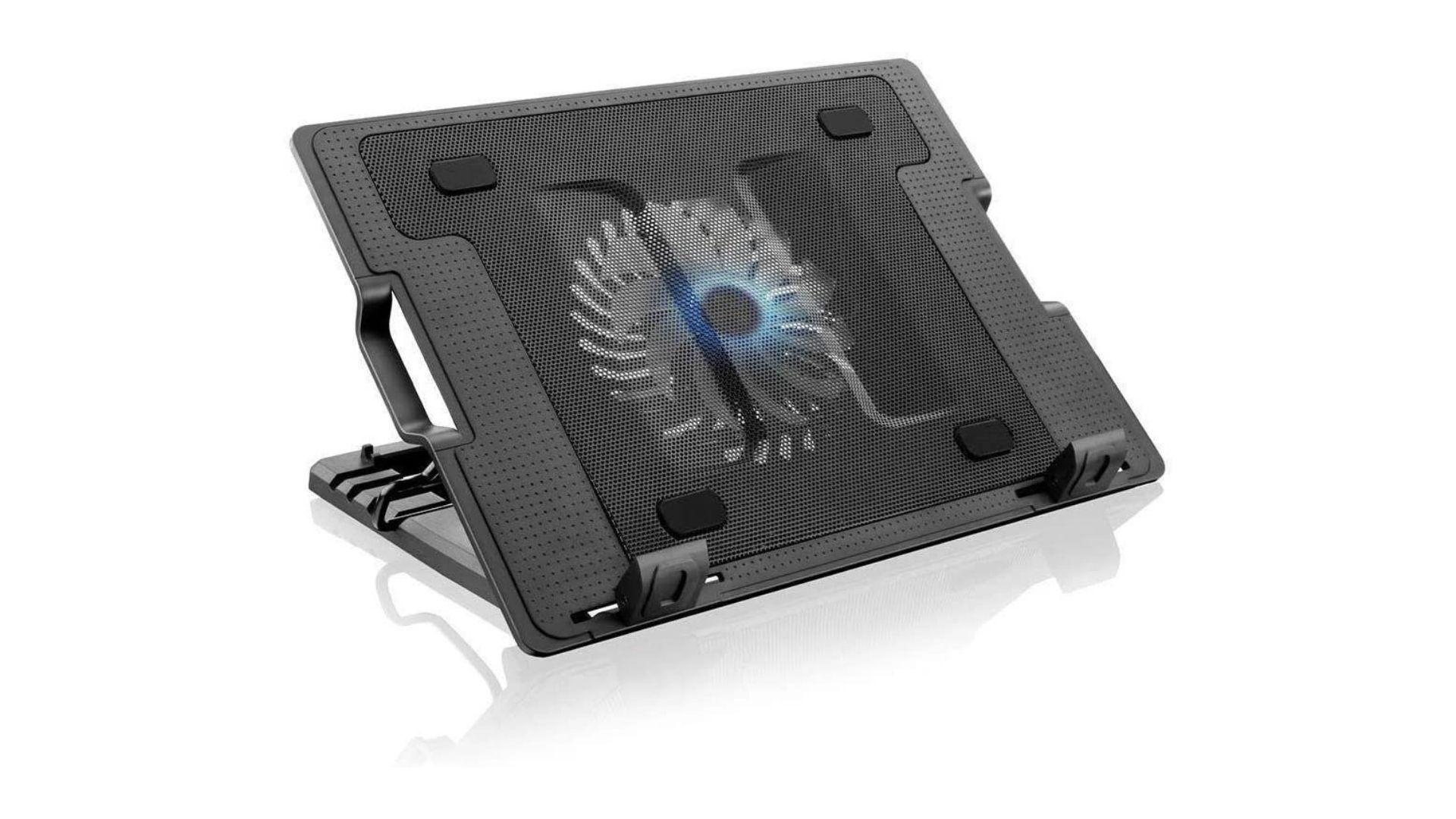KP-9013 é um suporte para notebook com cooler antiderrapante (Foto: Divulgação/Knup)