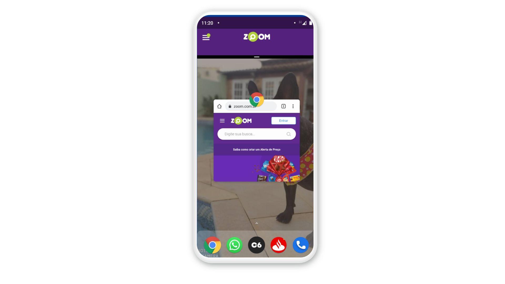 Como dividir a tela do celular: escolha outro aplicativo para dividir a tela. (Foto: Arte/Zoom)