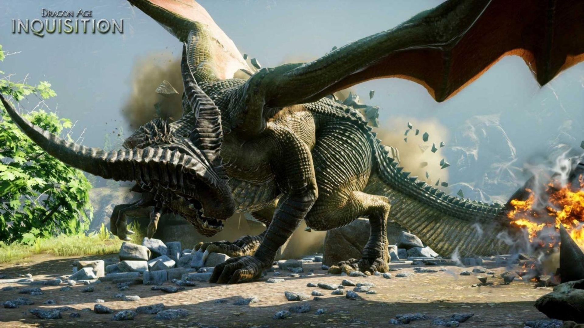 Como o nome deixa claro, Dragon Age também tem... dragões (Fonte: Divulgação / Bioware)