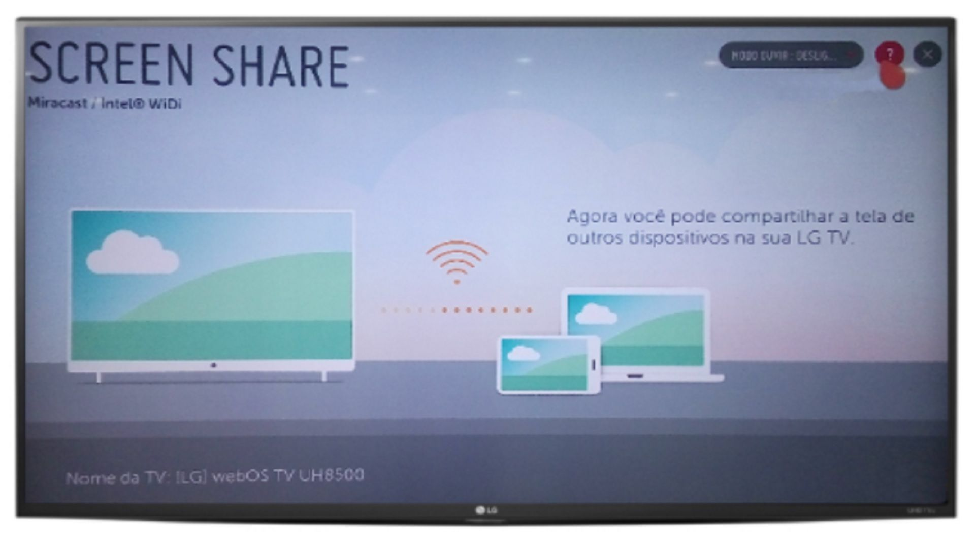 Abra o Screen Share na sua TV LG (Imagem: Divulgação/LG)