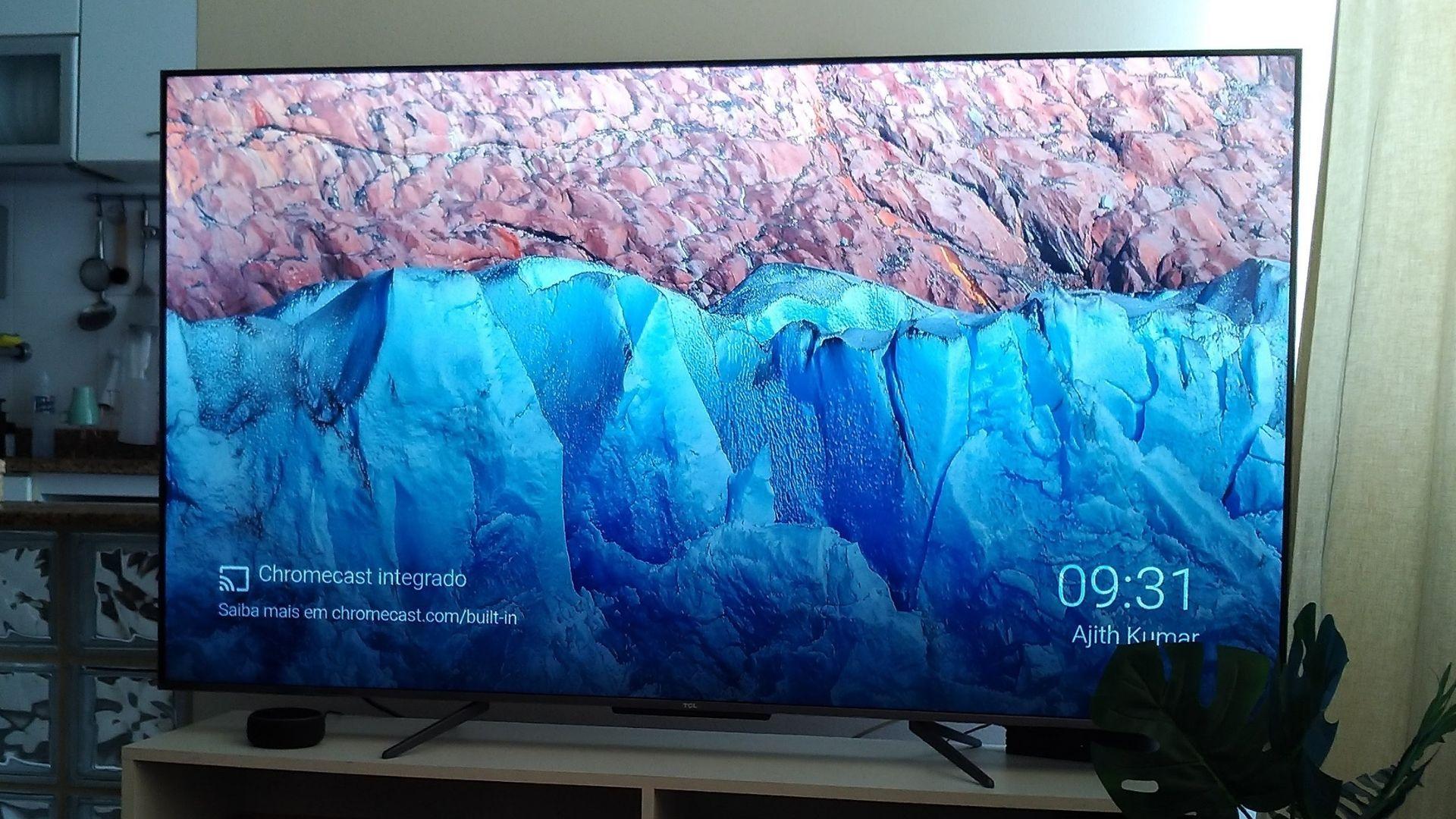A imagem da TV é bem nítida e tem um excelente contraste (Foto: Arquivo Pessoal, Leonor Militão)