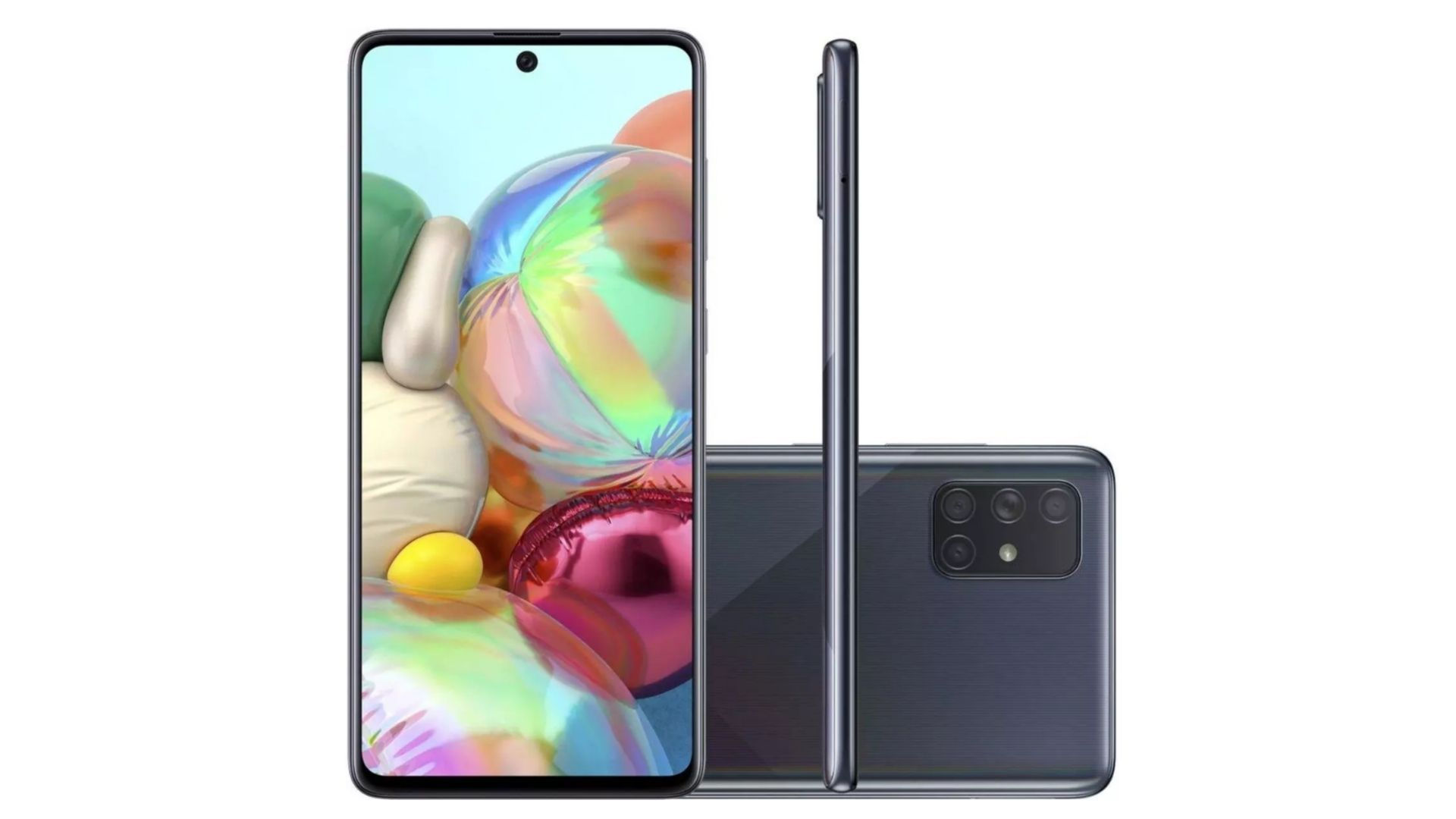 Galaxy A71 é um celular intermediário da Samsung (Foto: DIvulgação/Samsung)