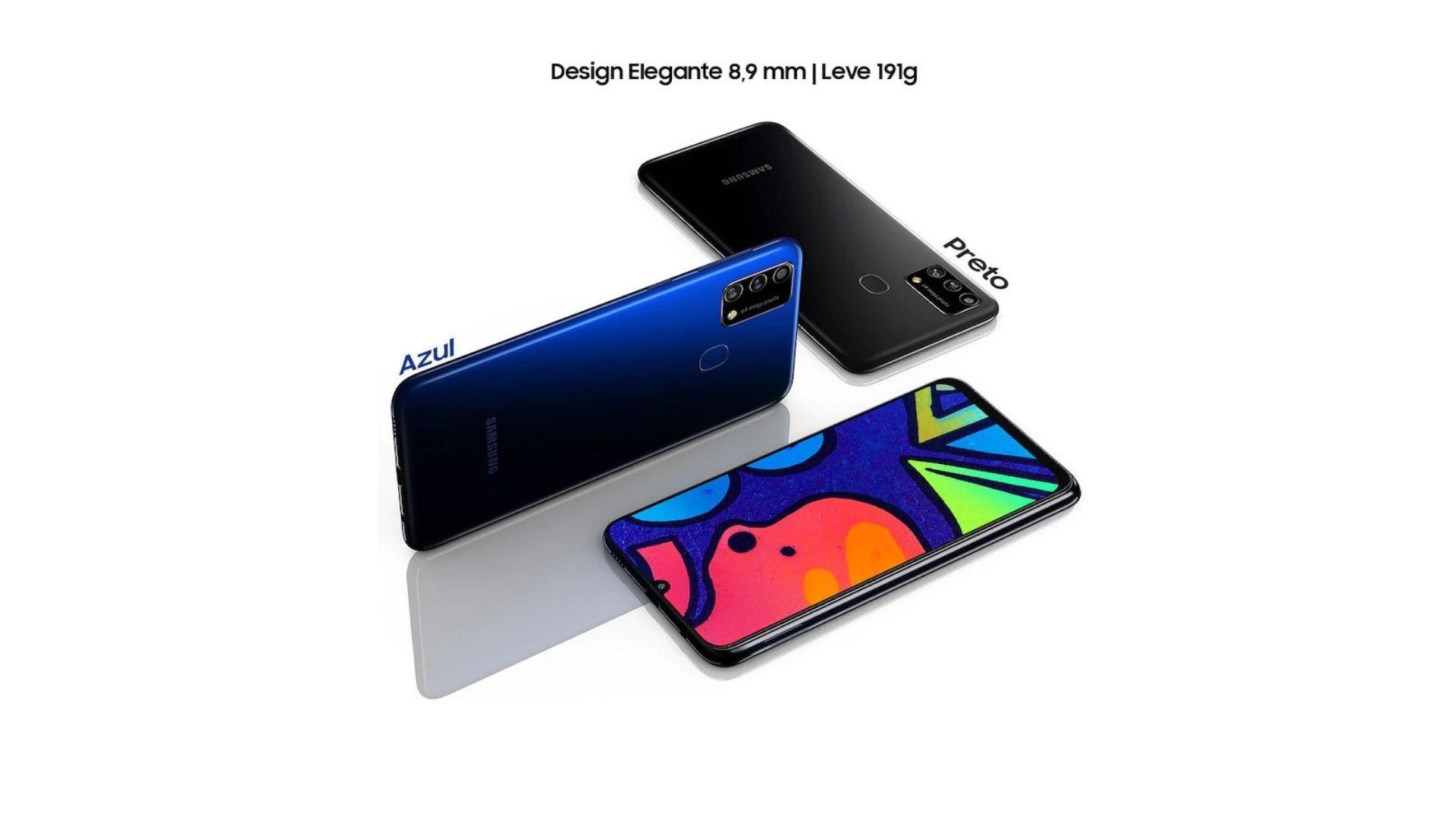 """Design é parecido com os outros da linha """"M"""" (Imagem: Divulgação/Samsung)"""