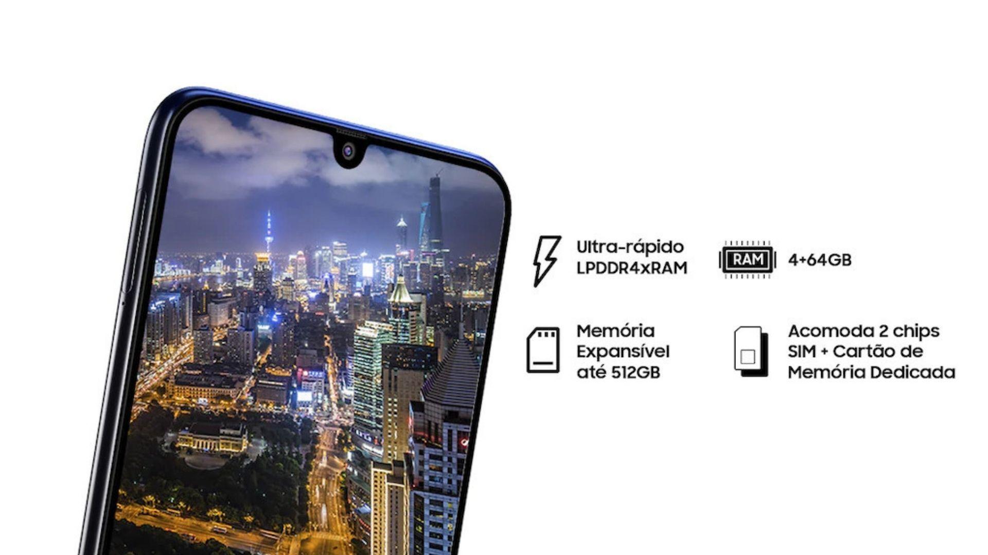 M21s tem 4 GB de RAM que garante bom desempenho em tarefas simples (Imagem: Divulgação/Samsung)