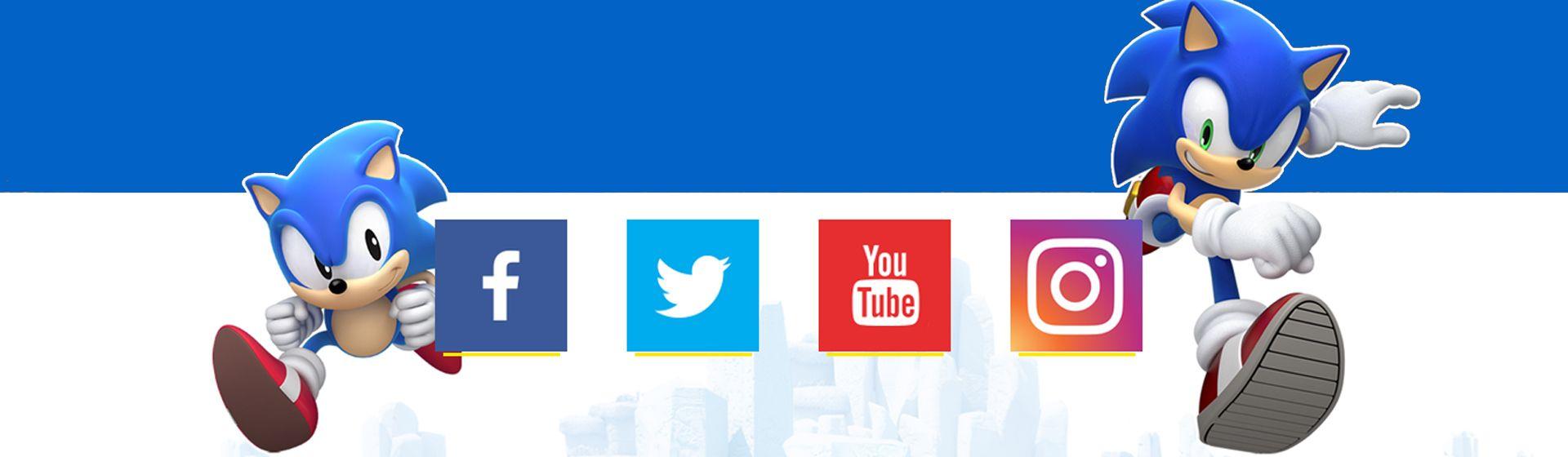 Redes sociais de Sonic chegam ao Brasil