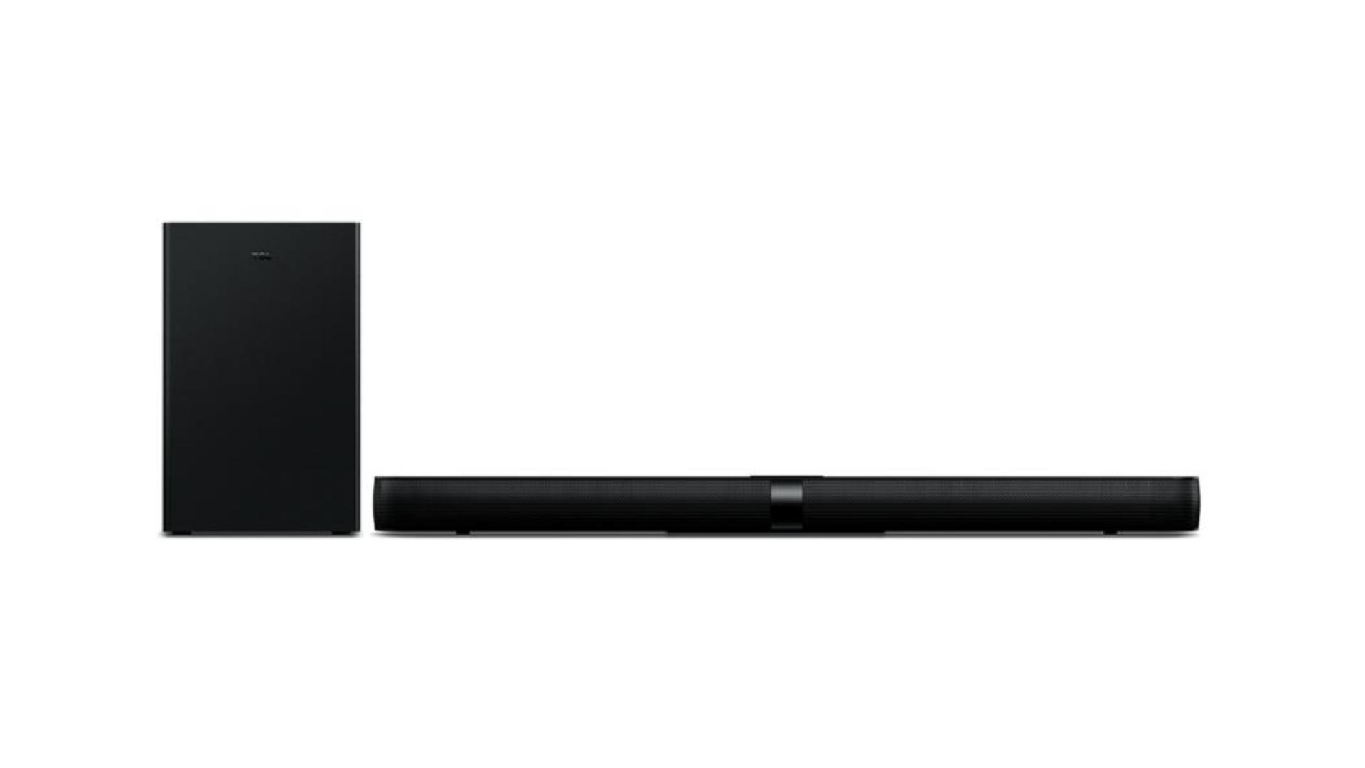 A Soundbar TCL traz um design fino e elegante para a sua casa (Imagem: Divulgação/TCL)