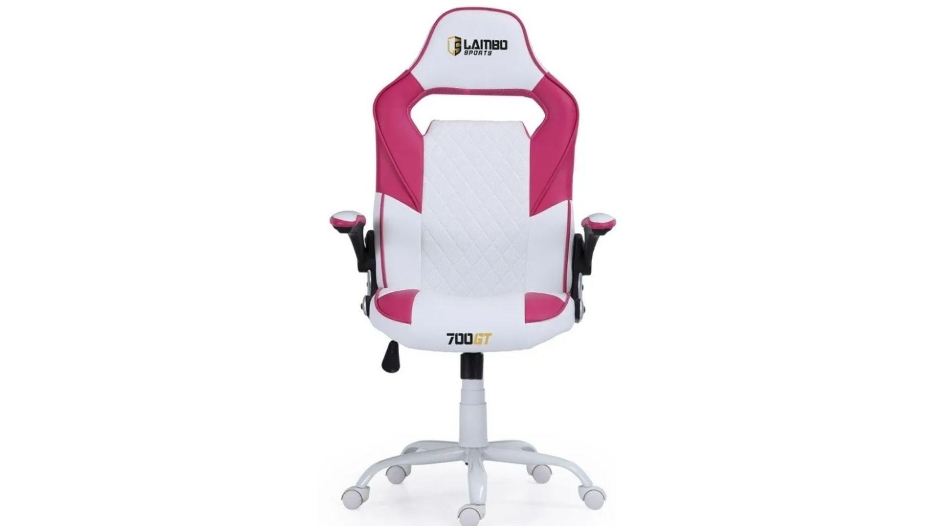 A 700 GT entra na lista de cadeira gamer rosa com valor acima de R$ 1.000 (Foto: Divulgação/Lambo Sports)