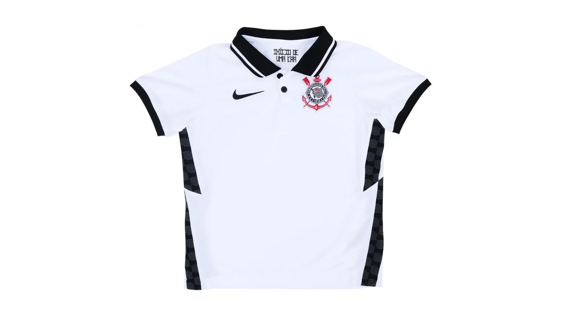 Camisa do Corinthians Infantil 2020 Nike Jogo 1 (Imagem: Divulgação/Nike)