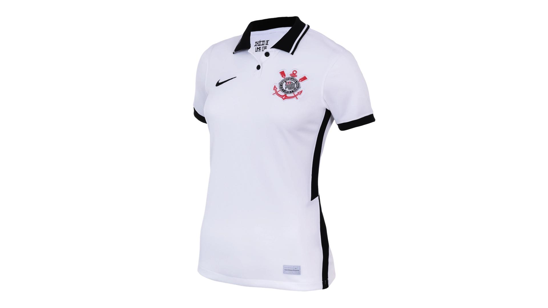 Camisa do Corinthians Feminina 2020 Nike Jogo 1 (Imagem: Divulgação/Nike)