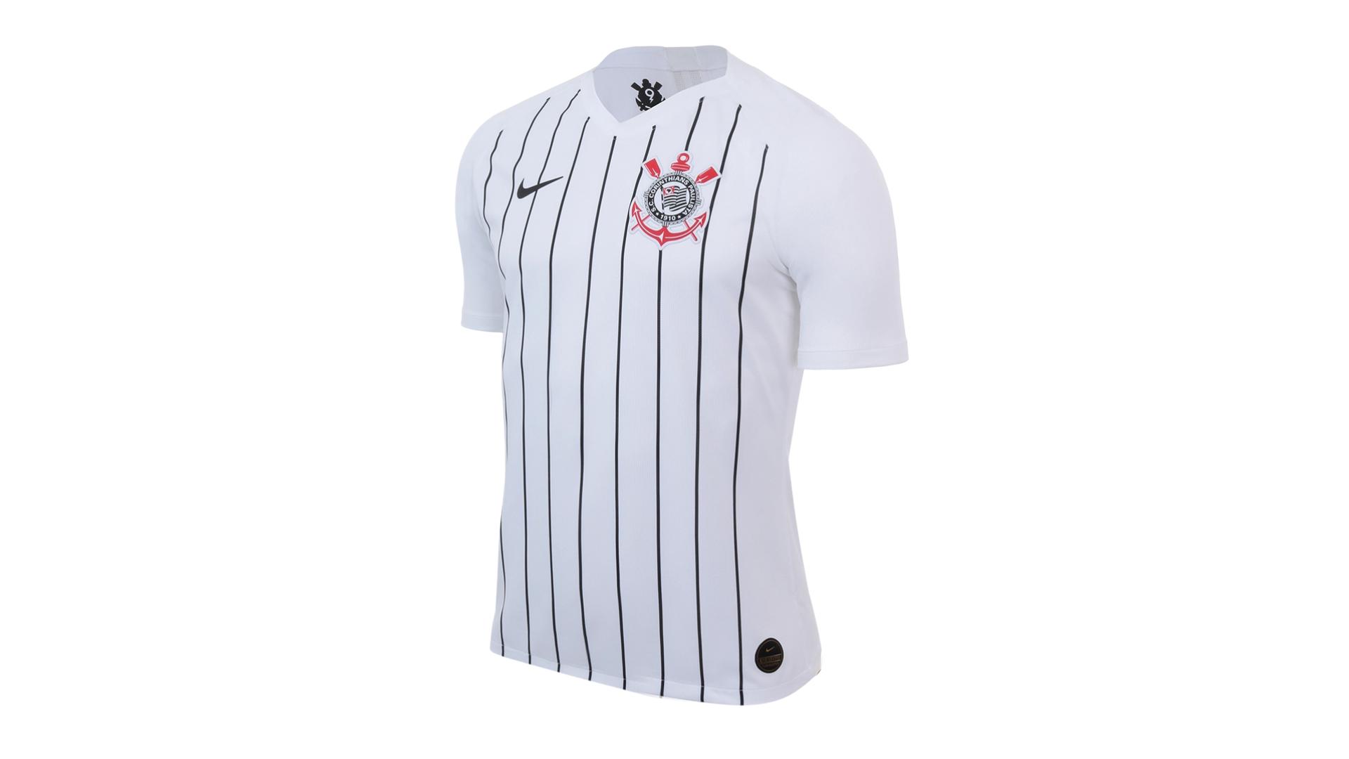 Camisa do Corinthians 2019 Nike Jogo 1 (Imagem: Divulgação/Nike)