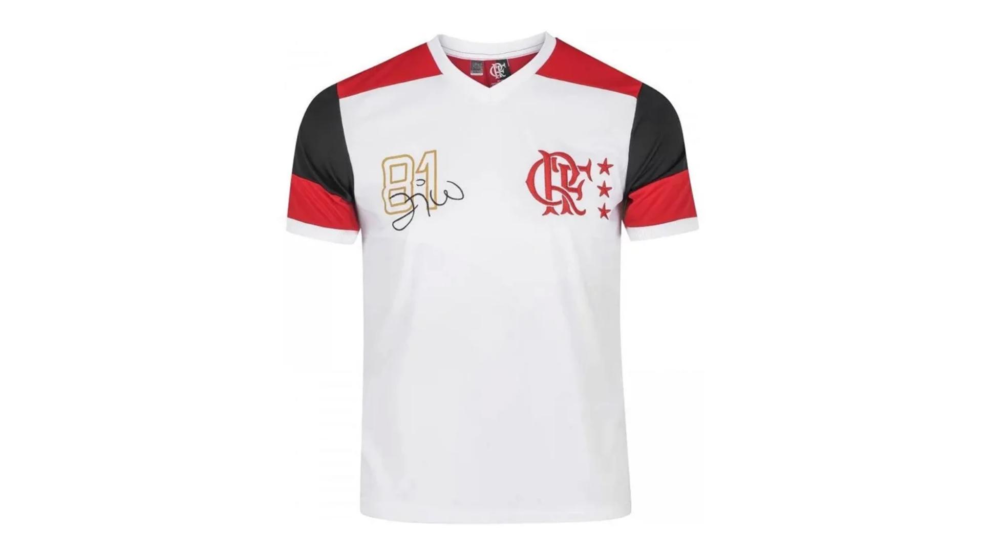 Camisa do Flamengo Retrô 2020 Zico Braziline (Imagem: Divulgação/Braziline)