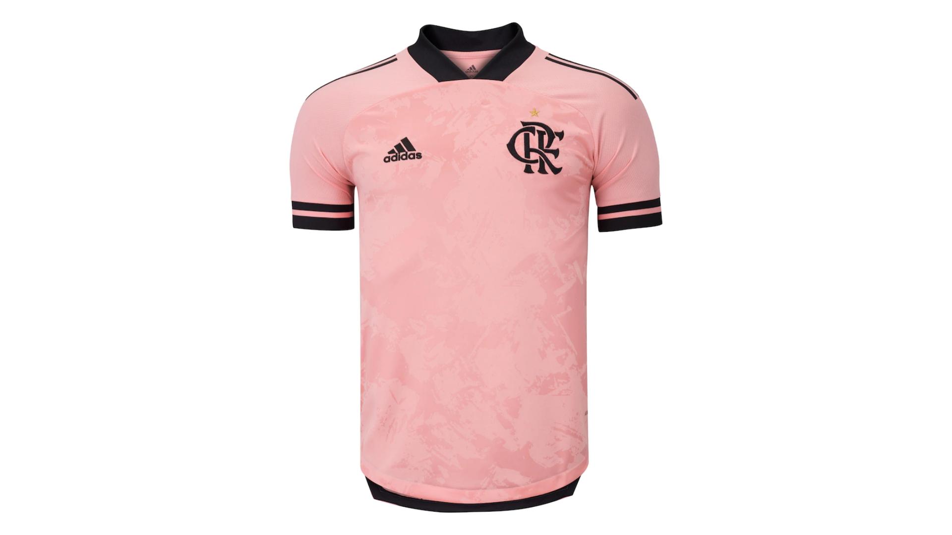 Camisa do Flamengo Rosa 2020 Adidas Outubro Rosa (Imagem: Divulgação/Adidas)