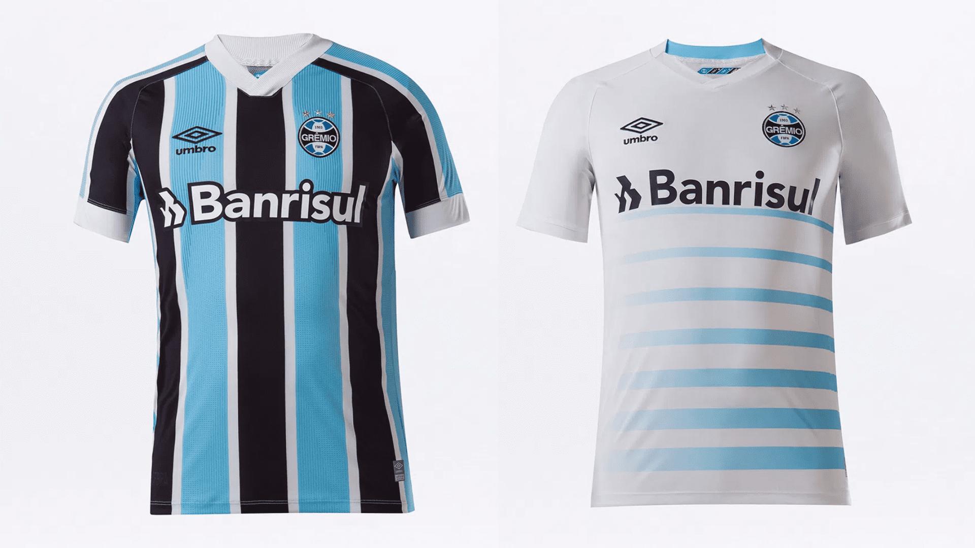 Camisa do Grêmio 2021 Umbro Jogo 1 e 2 (Imagem: Divulgação/Umbro)