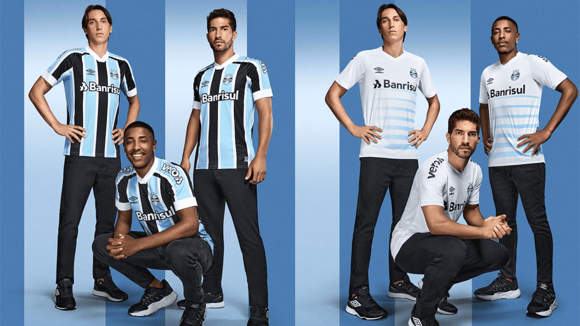 Conheça os modelos de camisa do Grêmio para comprar em 2021! (Imagem: Divulgação/Umbro)