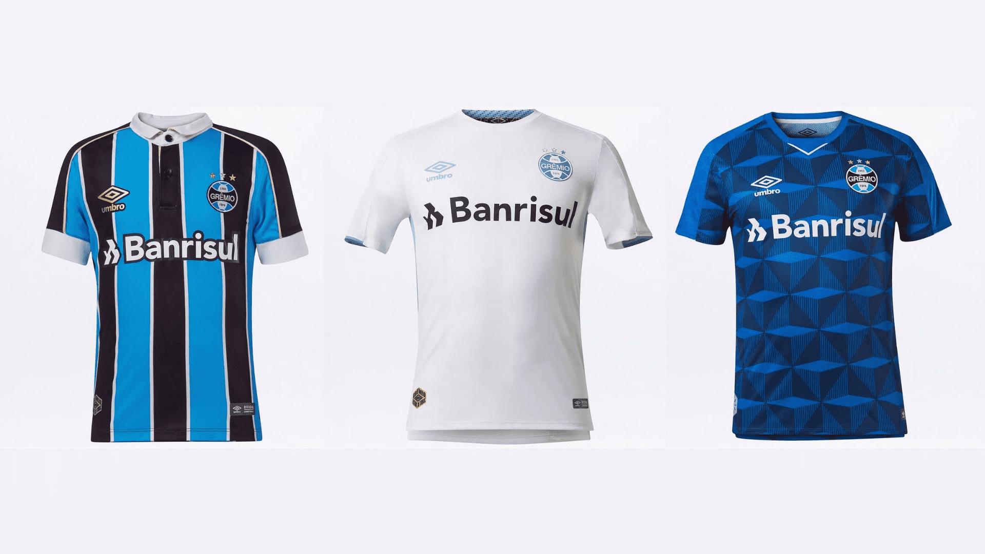 Camisa do Grêmio 2019 Umbro Jogo 1, 2 e 3 (Imagem: Divulgação/Umbro)