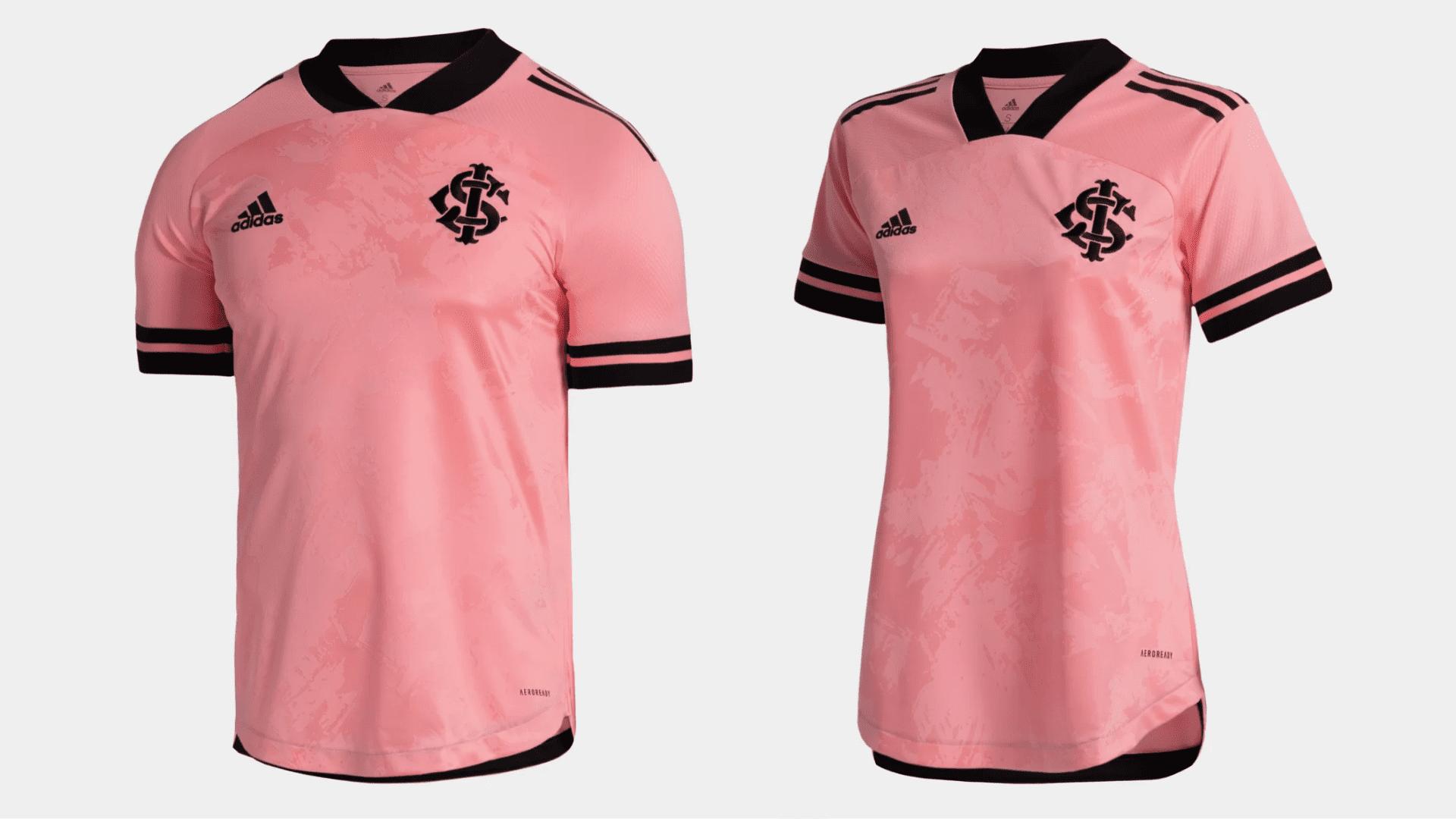 Camisa do Internacional 2020 Adidas Outubro Rosa (Imagem: Divulgação/Adidas)
