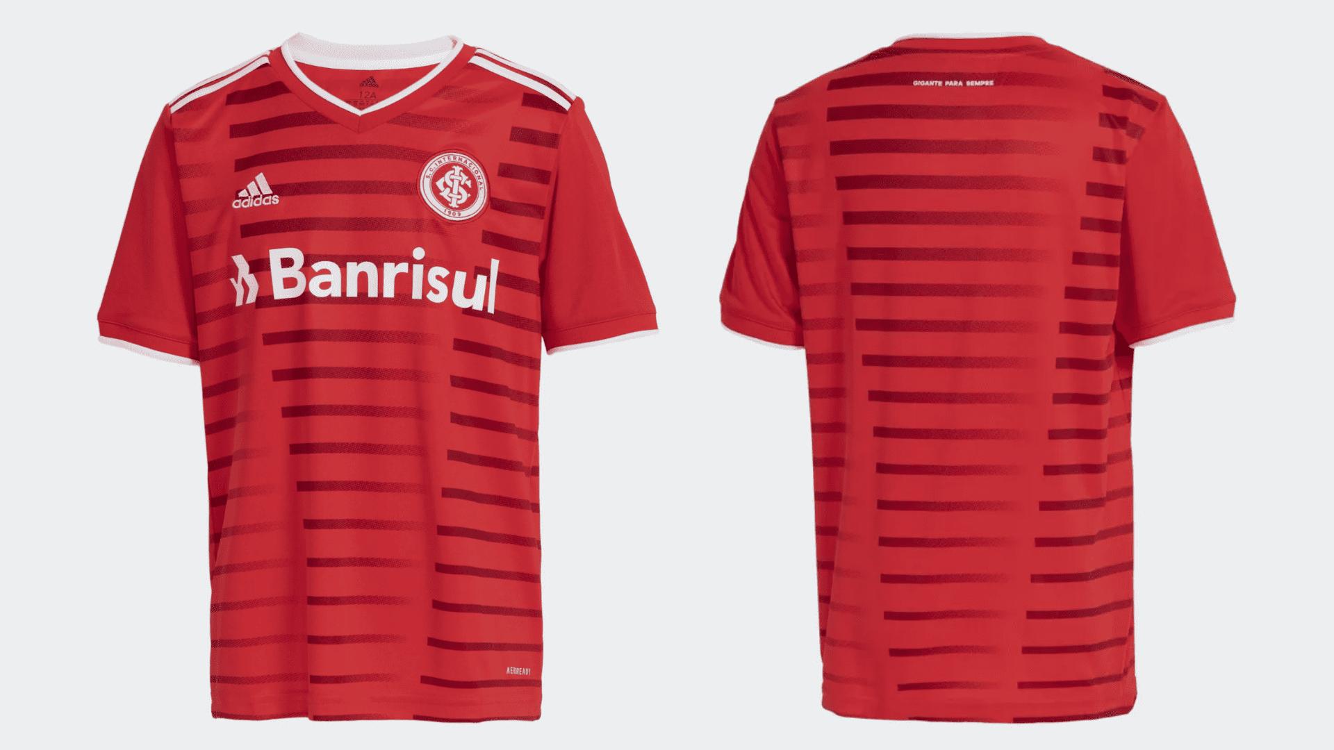 Camisa do Internacional Infantil 2021 Adidas Jogo 1 (Imagem: Divulgação/Adidas)