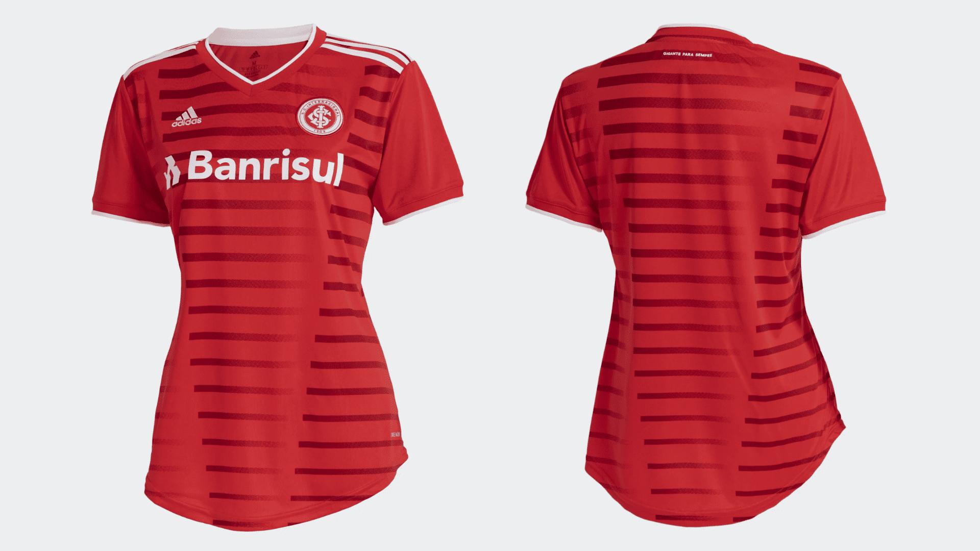 Camisa do Internacional Feminina 2021 Adidas Jogo 1 (Imagem: Divulgação/Adidas)