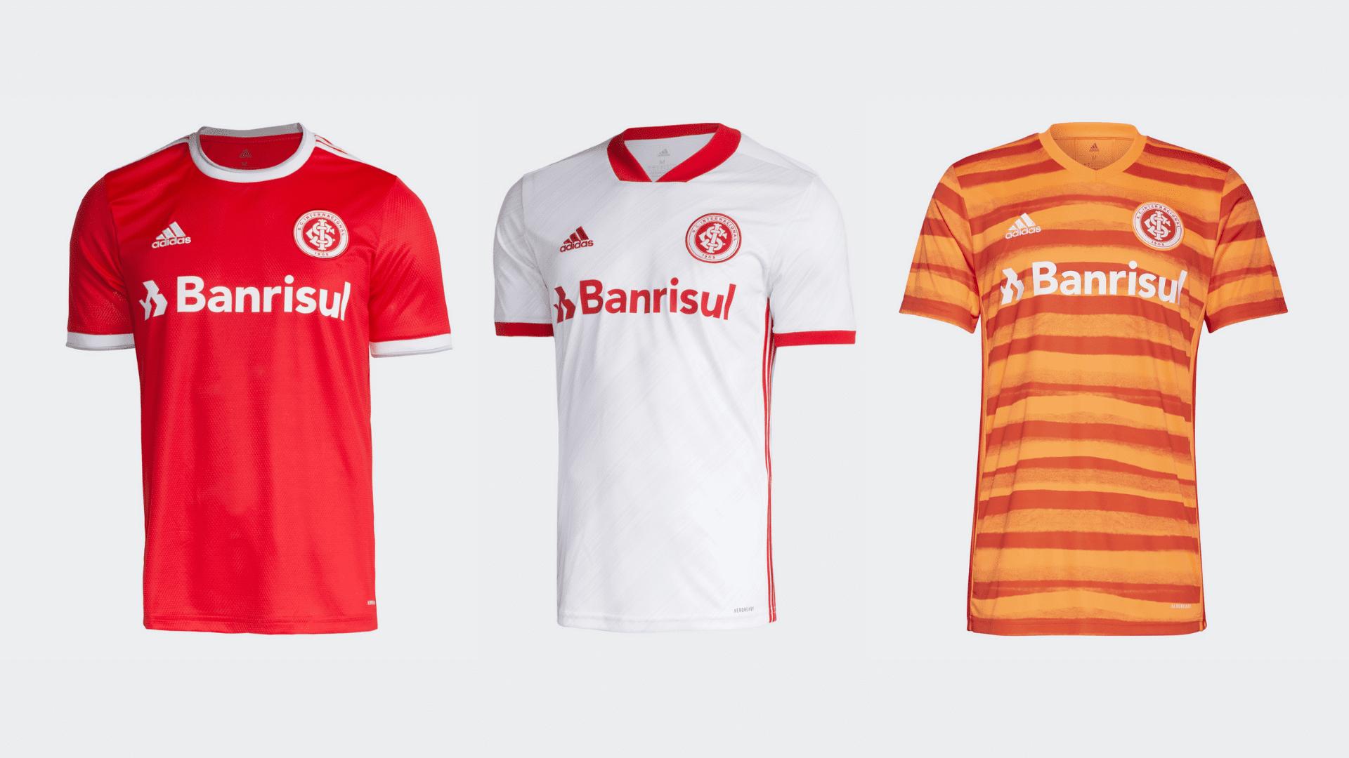 Camisa do Internacional 2020 Adidas Jogo 1, 2 e 3 (Imagem: Divulgação/Adidas)