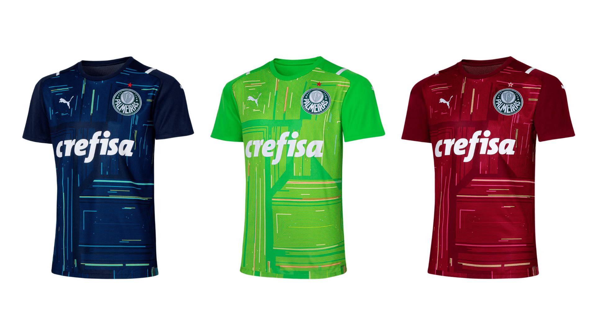 Camisa do Palmeiras Goleiro 2021 Puma Jogo 1, 2 e 3 (Imagem: Divulgação/Puma)