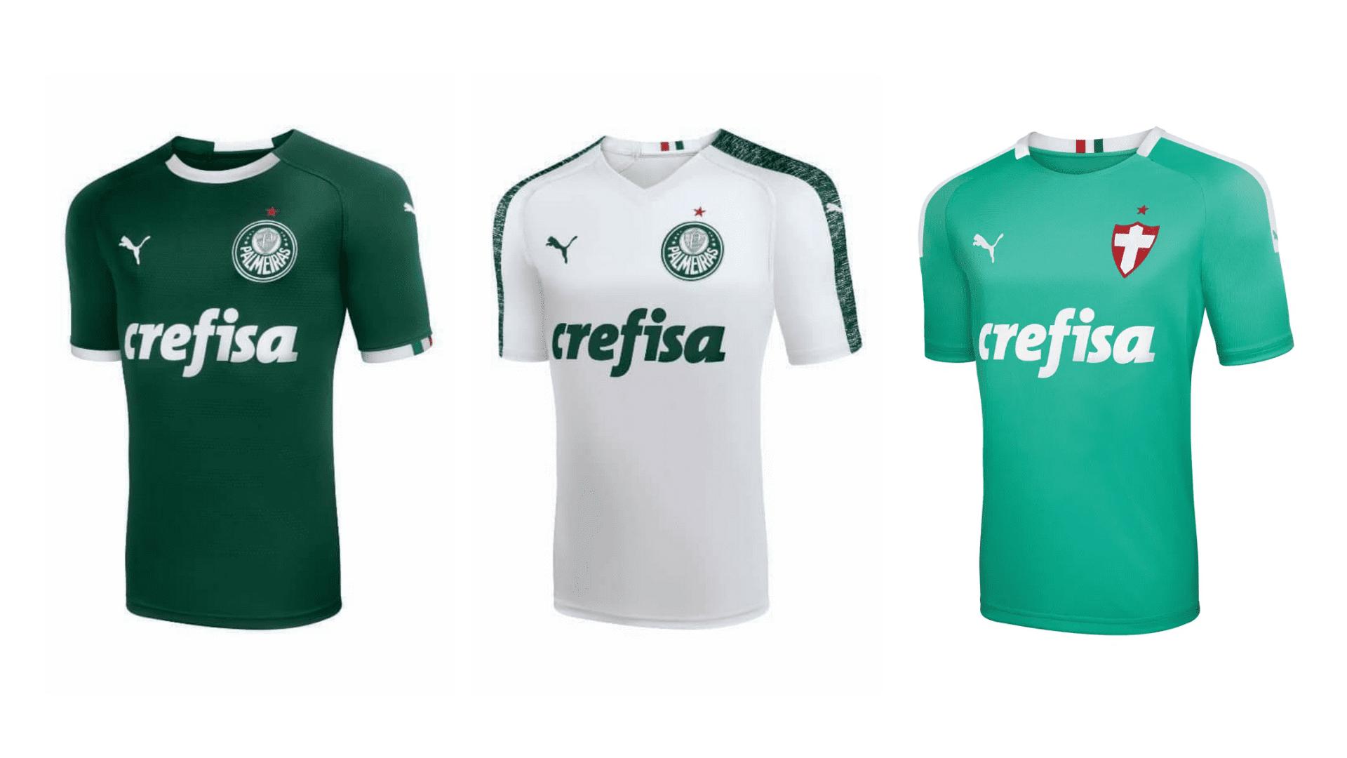 Camisa do Palmeiras 2019 Puma Jogo 1, 2 e 3 (Imagem: Divulgação/Puma)