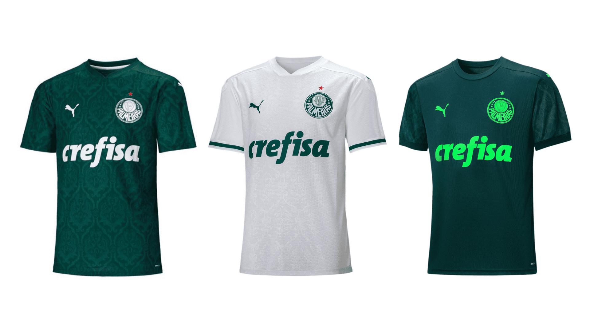 Camisa do Palmeiras 2020 Puma Jogo 1, 2 e 3 (Imagem: Divulgação/Puma)
