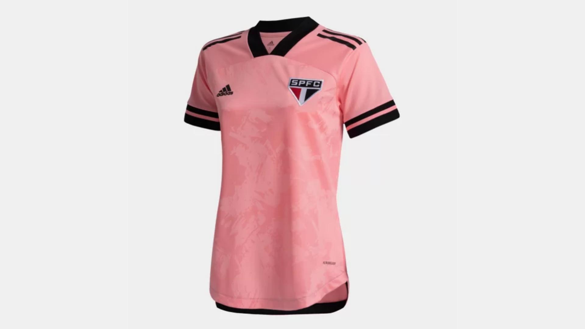 Camisa do São Paulo Rosa 2020 Adidas Outubro Rosa (Imagem: Divulgação/Adidas)