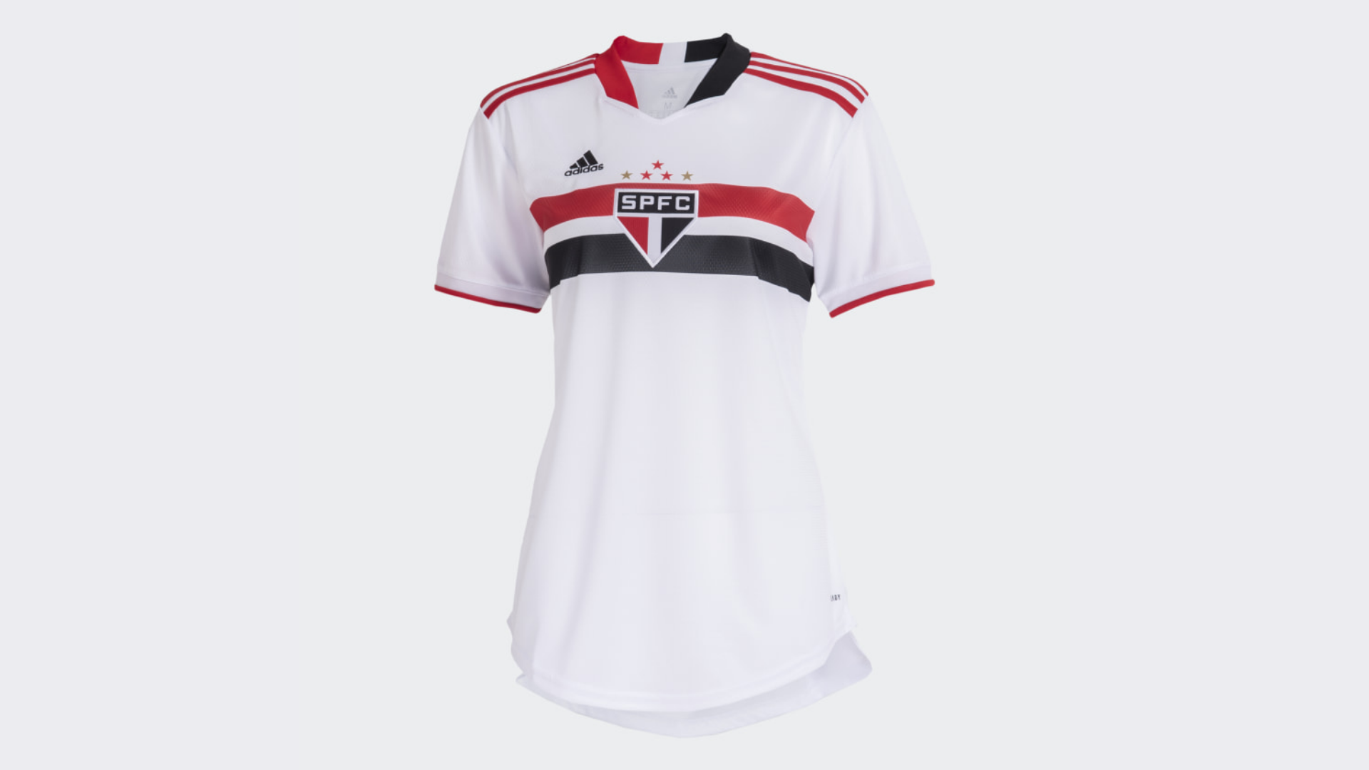Camisa do São Paulo Feminina 2021 Adidas Jogo 1 (Imagem: Divulgação/Adidas)