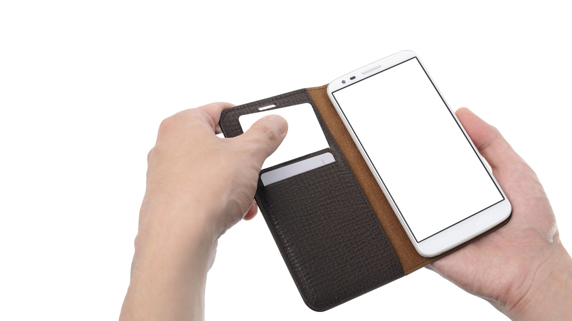 Capinha de celular flip pode ser elegante e ainda servir como carteira (Foto: Shutterstock)